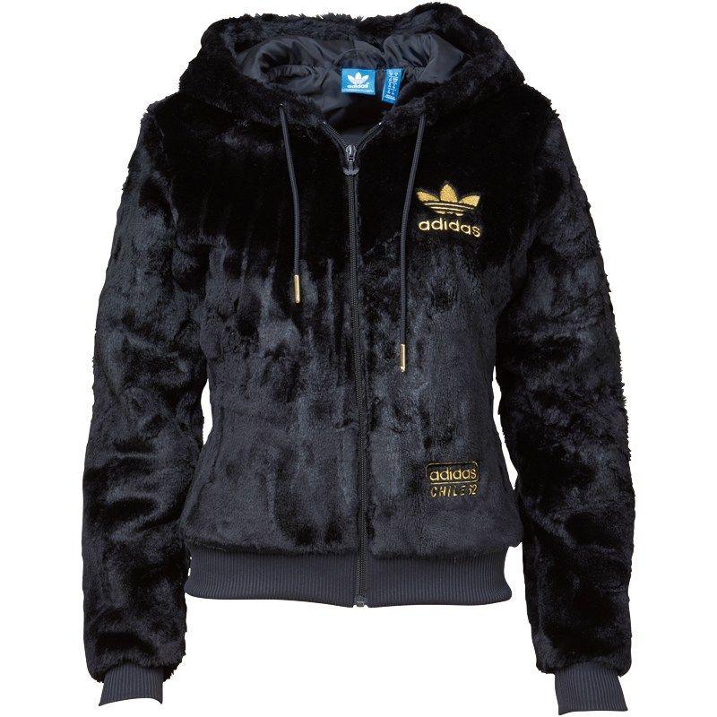 adab10da2990 adidas Originals Womens Chile 62 Fur Track Top Black