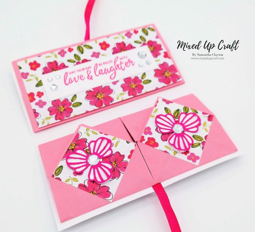 Chinese Thread Book Origami design, Fancy fold cards