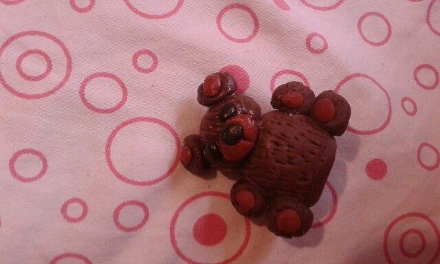 Wet porcelain teddy bear