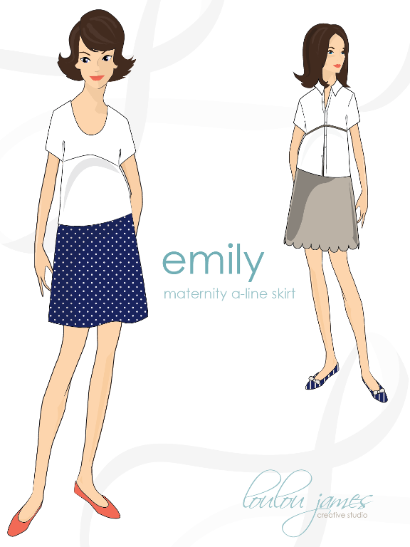 Emily Maternity A-Line Skirt | Pinterest