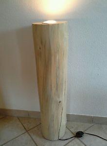 Nr 137 Kiefer Deckenfluter Stehlampe Holz 22cm X 22 X 90cm