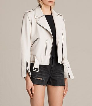 All Saints White Leather Jacket Leather Jackets Women Jackets For Women White Leather Jacket