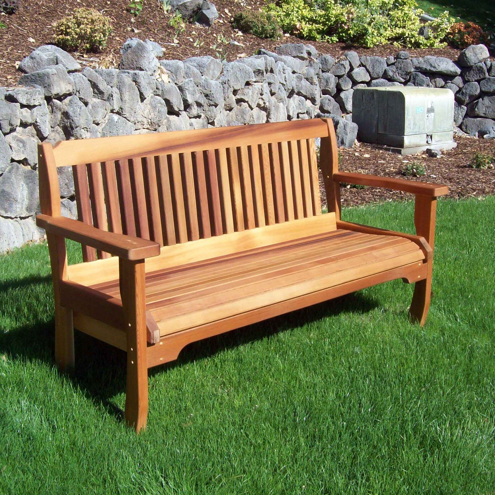 Astounding Outdoor Wood Country Cabbage Hill Solid Cedar Garden Bench Bralicious Painted Fabric Chair Ideas Braliciousco