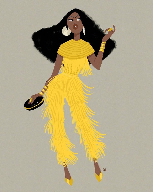 Pin De Lorraine Rodriguez En Rizos Caricaturas En 2020 Ilustraciones De Moda Arte De Silueta Ilustraciones