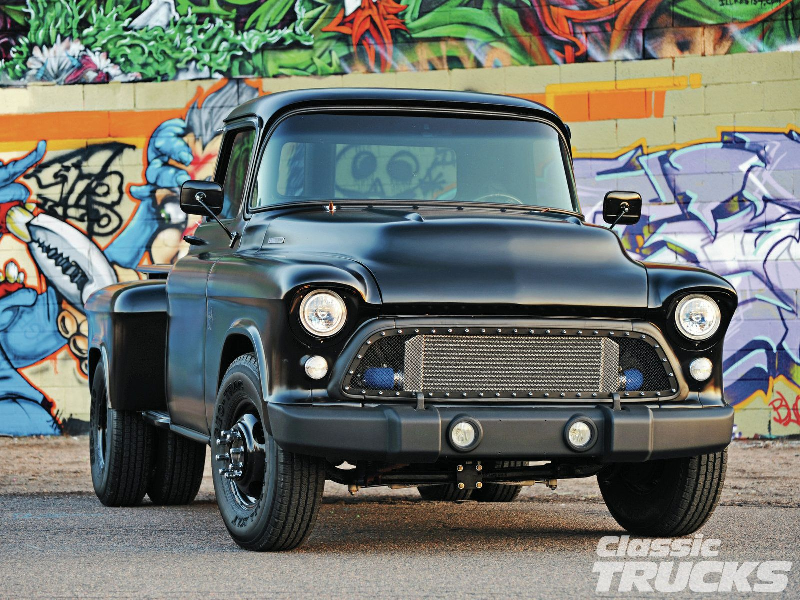 old trucks with stacks | 1957 Chevy 3800 Front | pick up with ...