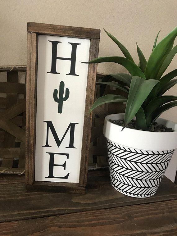 Home Cactus Sign Cactus Sign Cactus Decor Cactus Home Cactus Decor Home Diy Decor