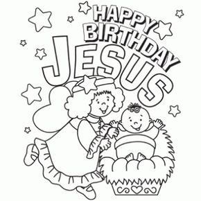 Happy Birthday Jesus Coloring Page Free Christmas Recipes