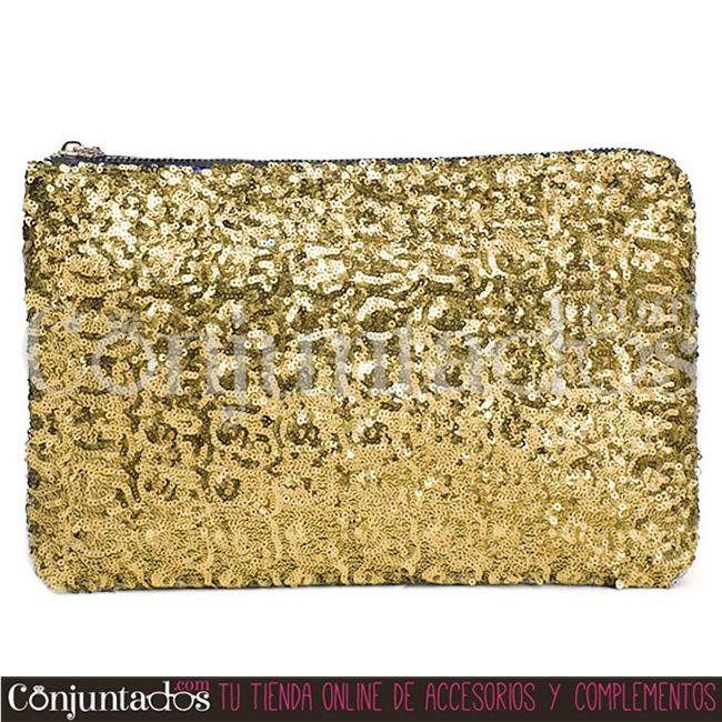 Bolso de mano con lentejuelas dorado ☆ 11'95 € ☆ Cómpralo en https ... 0d8b27491312