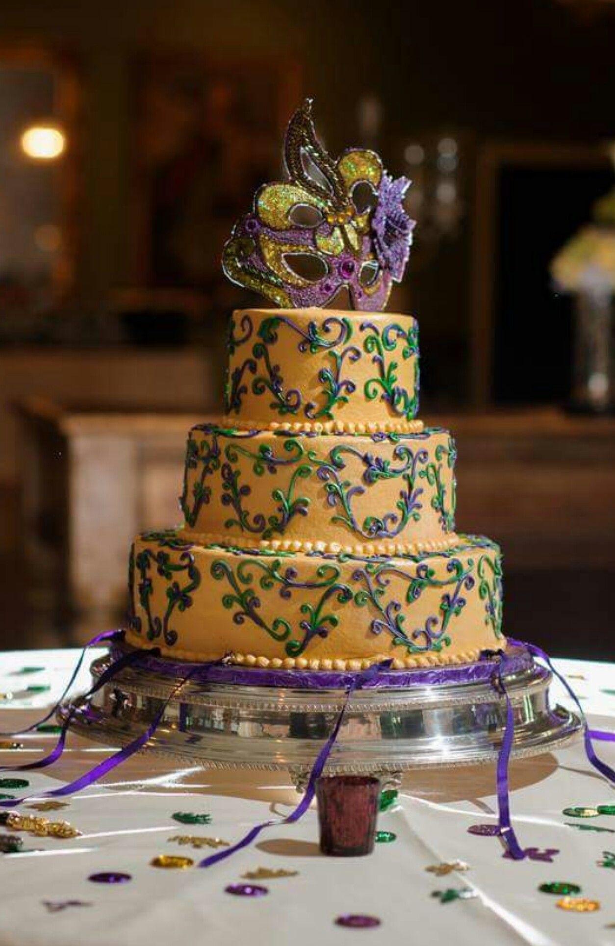 Mardi Gras Cake Pretty Mardi Gras Wedding Cake Mardi Gras Cake Cake