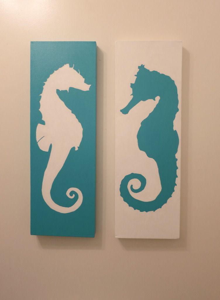 Coastal Seahorses Decor Different Design Same Idea