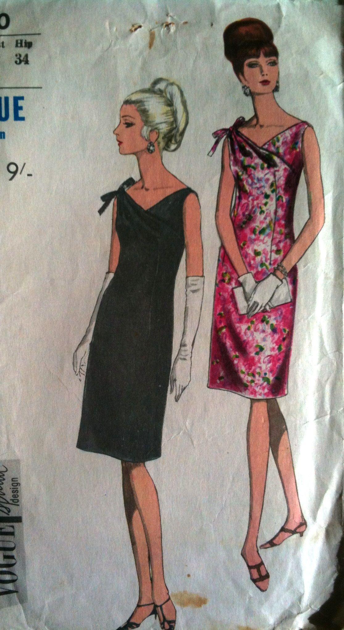 Sixties cocktail dress pattern | Sewing | Pinterest | Dress patterns ...