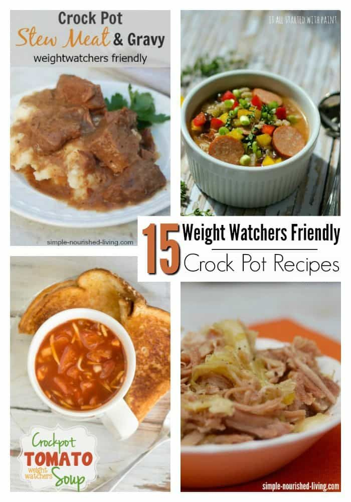 15 Easy Crock Pot/Slow Cooker Meals That Are Weight Watchers Friendly via @mommywant