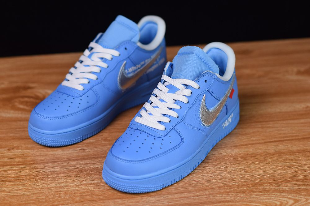 Off White X Nike Air Force 1 Low Mca Blue Ci1173 400 Nike Shoes Air Force Nike Custom Nike Shoes