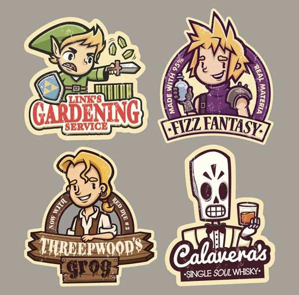 Gaming stickers 3 by cronobreaker on deviantart stickers pinterest deviantart graffiti and game art