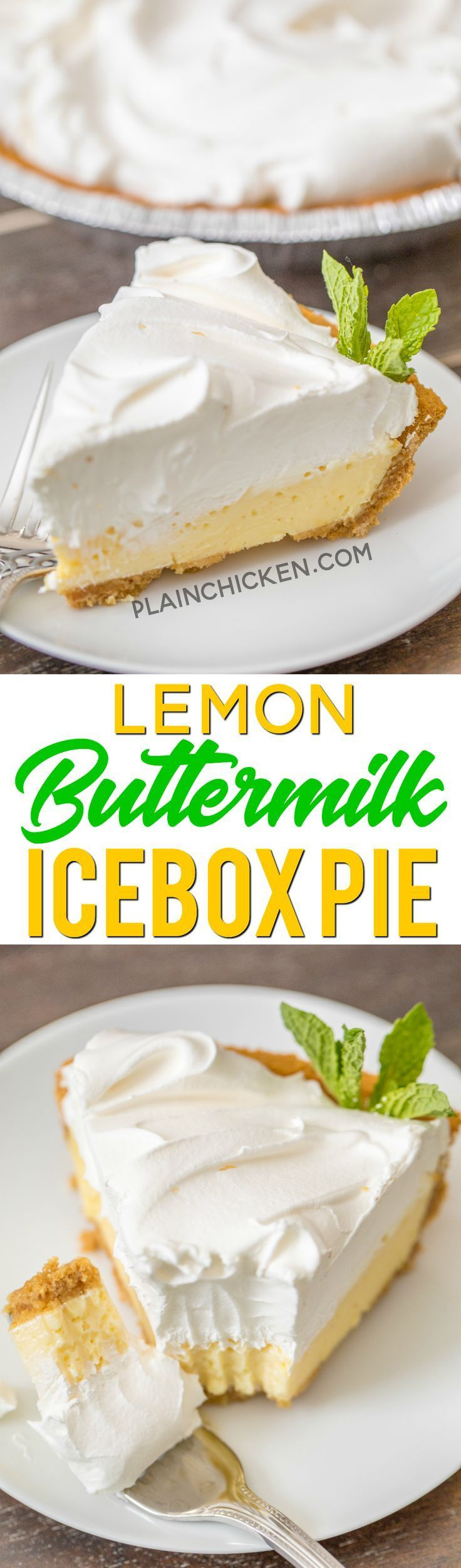 Lemon Buttermilk Icebox Pie To Die For Delicious So Simple And It Tastes Amazing We Made Two Of These Pies In One Lemon Recipes Icebox Pie Lemon Desserts