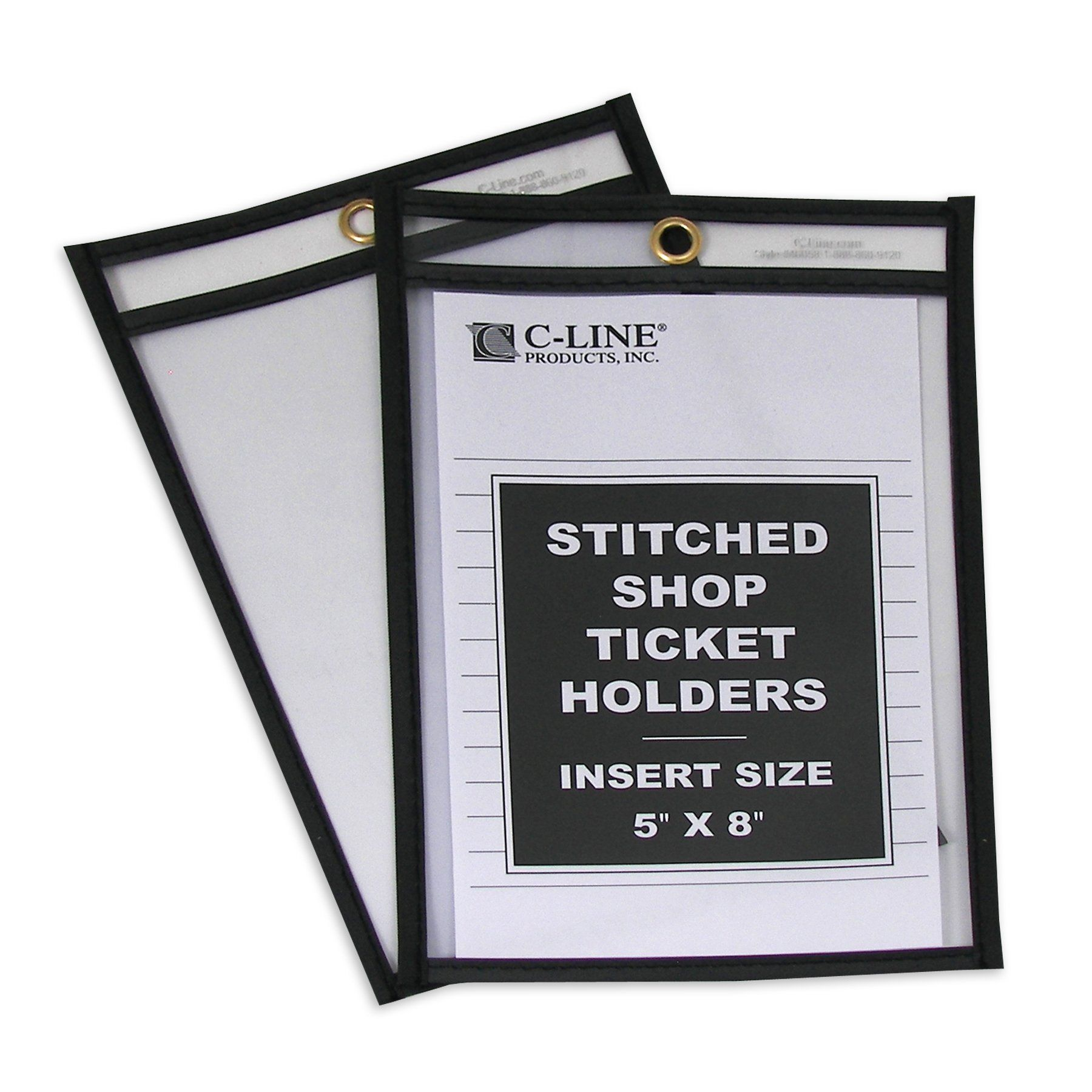 Amazon C Line Stitched Shop Ticket Holders Both Sides Clear