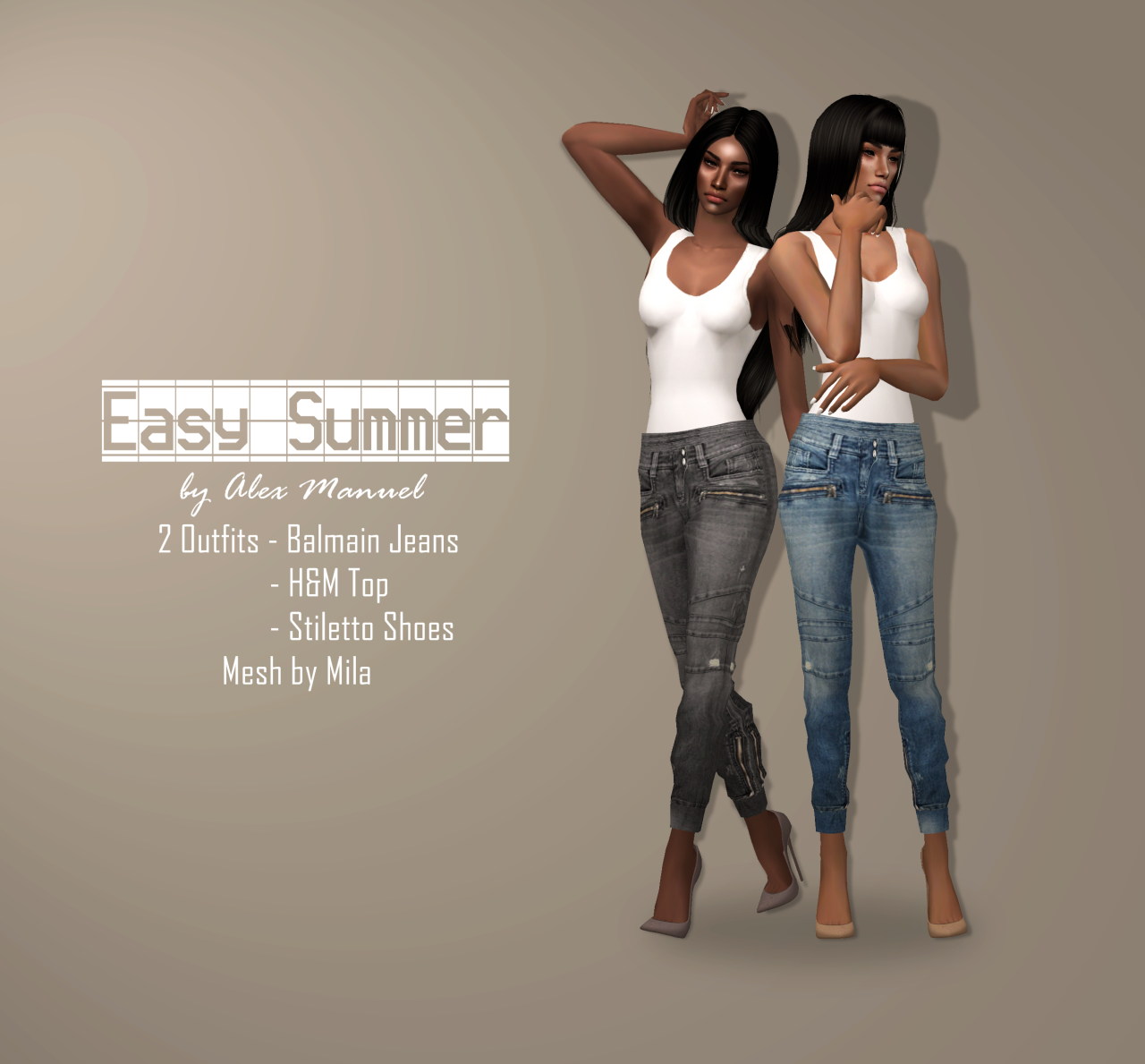 2 outfits for your adult sims to enjoy this summer!- textures by, Badezimmer ideen