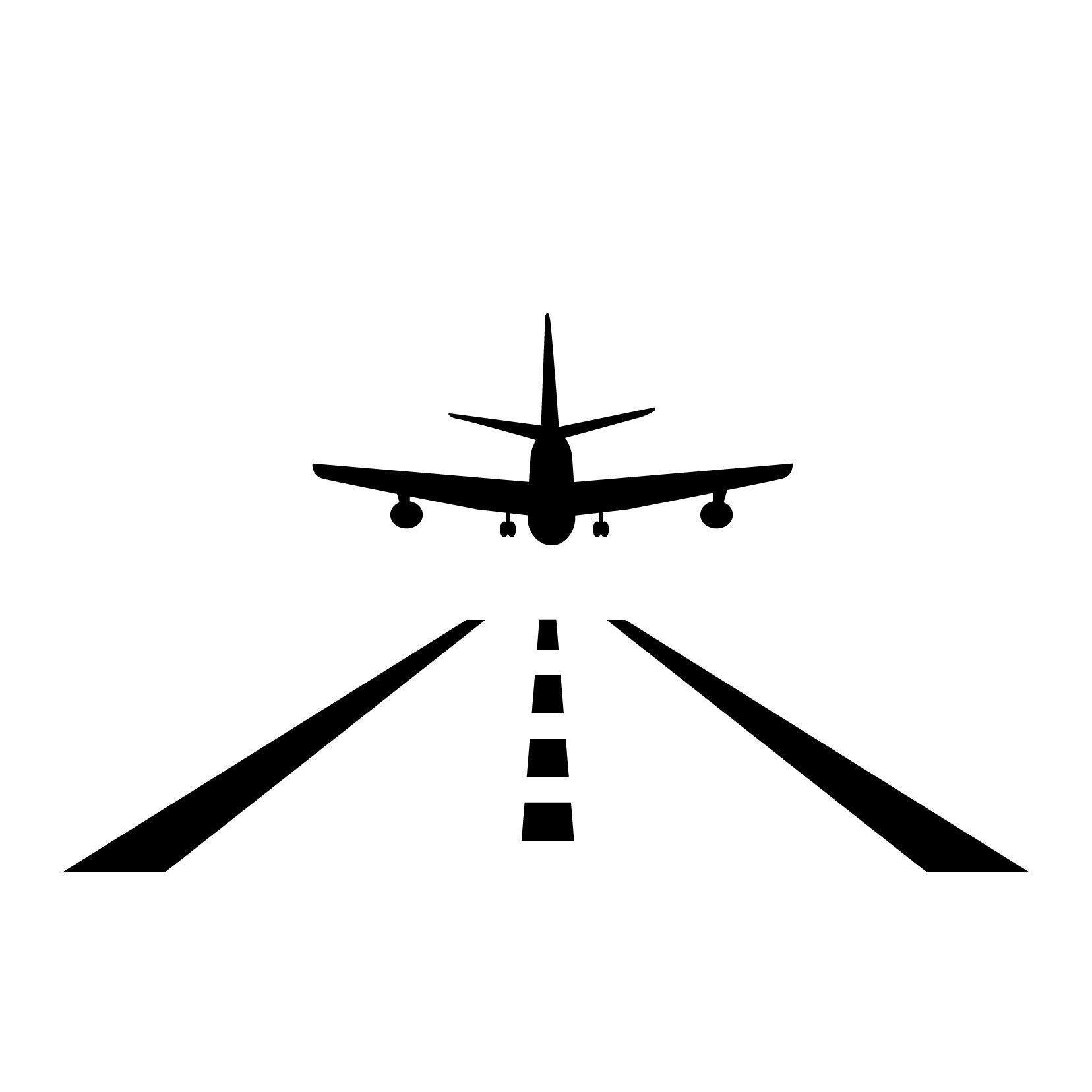 Airplane Aircraft Landing Strip Vinyl Wall Art Decal For Homes Offices Kids Rooms Nurseries Schools High Schools Colleges Universities Events Vinyl Wall Art Decals Vinyl Art Stickers Decal Wall Art [ 1656 x 1656 Pixel ]