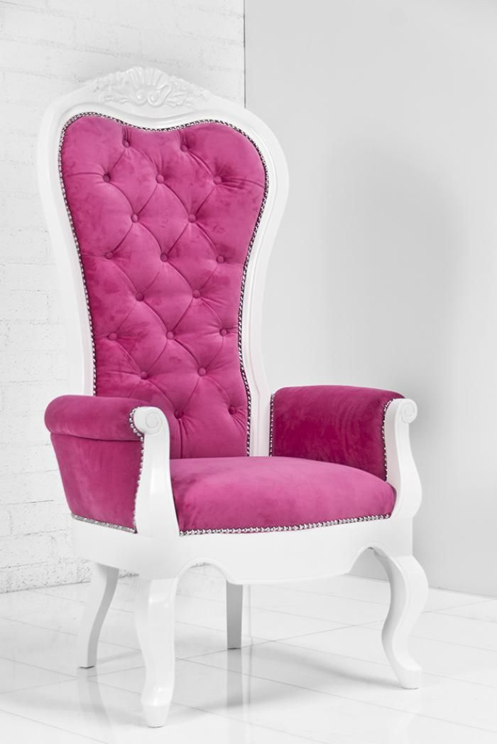 riviera wing chair in pink velvet seating dining and