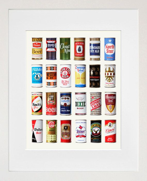 Beer Poster - Vintage Beer Can Poster - Beer Art on Etsy, $14.00