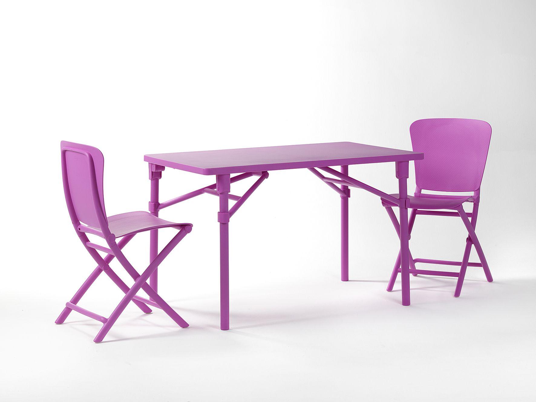 Mobilier de jardin Nardi : l\'ensemble table et chaises coloré ...