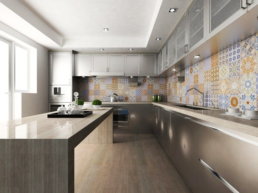Cenefa para cocina interceramic buscar con google remodelacion casa pinterest - Paredes de cocina sin azulejos ...