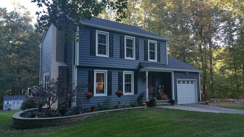 7 Popular Siding Materials To Consider: Photo In Siding- Midnight Blue, Downingtown, PA