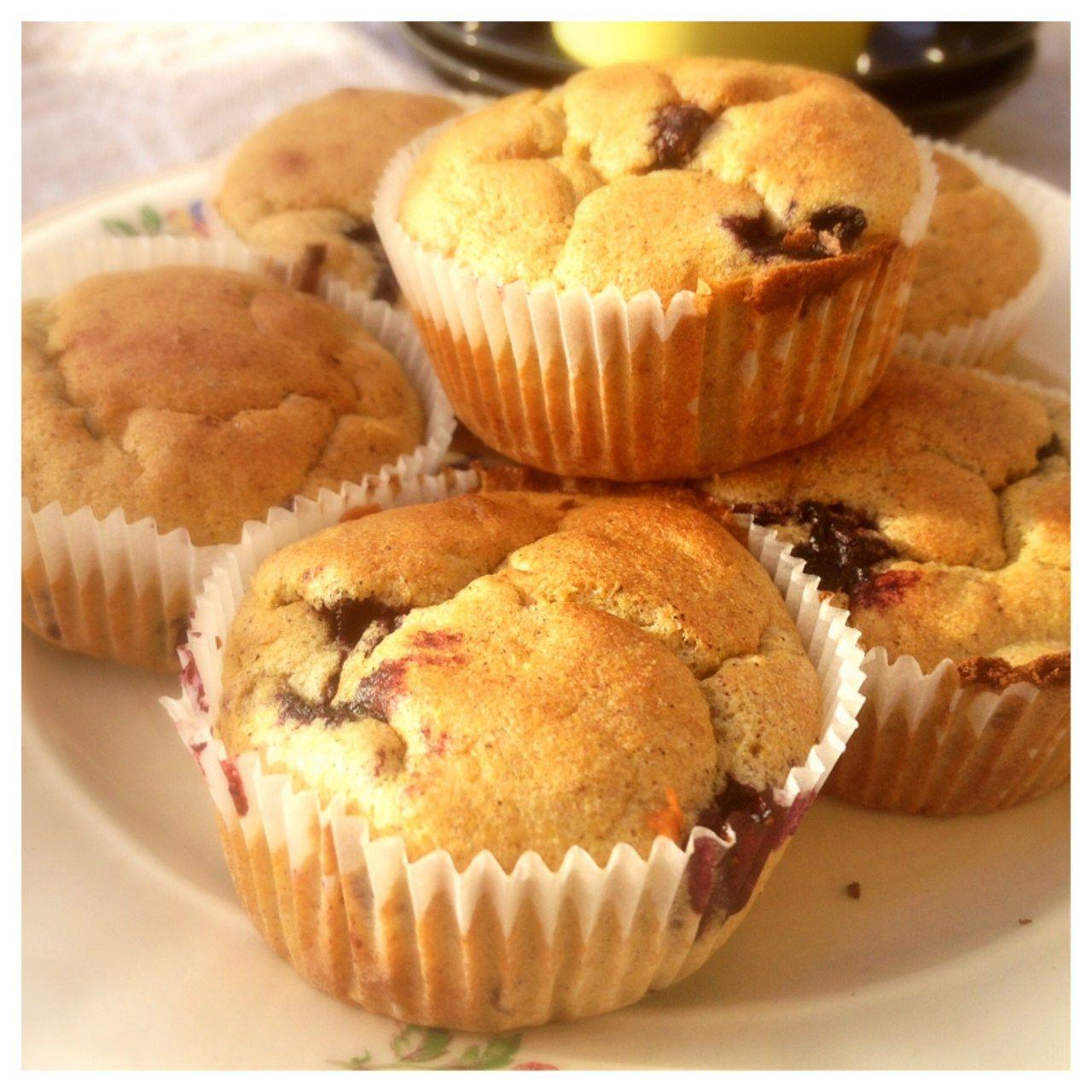 sockerfria muffins blåbär