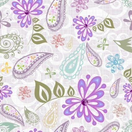 Beautiful Purple Flower Pattern Background Vector Vector Background Pattern Background Patterns Vector Free