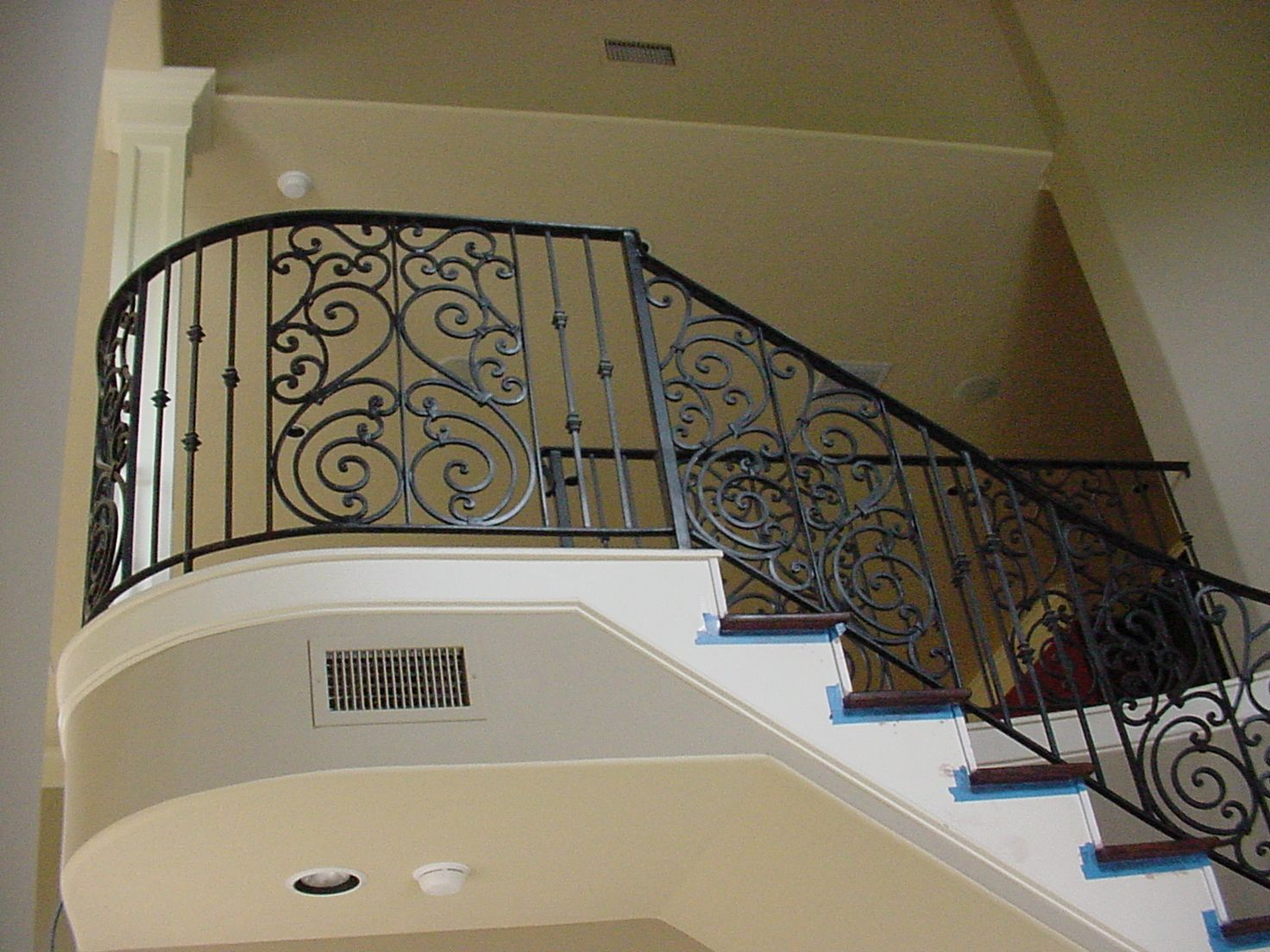 Good This Custom Spiral Design Was Created Using Our Fabricated Wrought Iron  Services. These Unique Components. Wrought Iron Stair RailingStair ...
