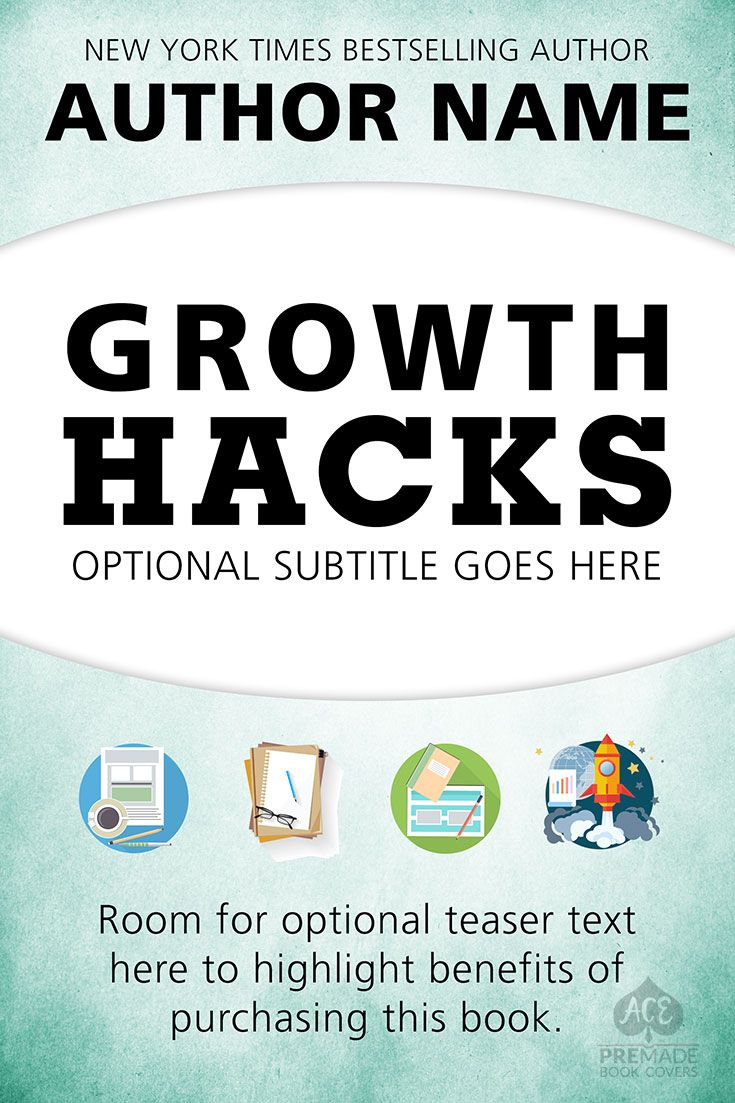 Premade book cover nonfiction how to business growth hacks premade book covers ebook kindle and print on demand for self published and indie authors fandeluxe Images