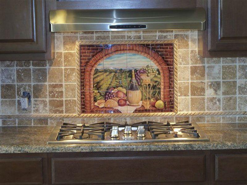 Kitchen Backsplash Ideas Tuscan Wine Ii Tile Mural Tuscan