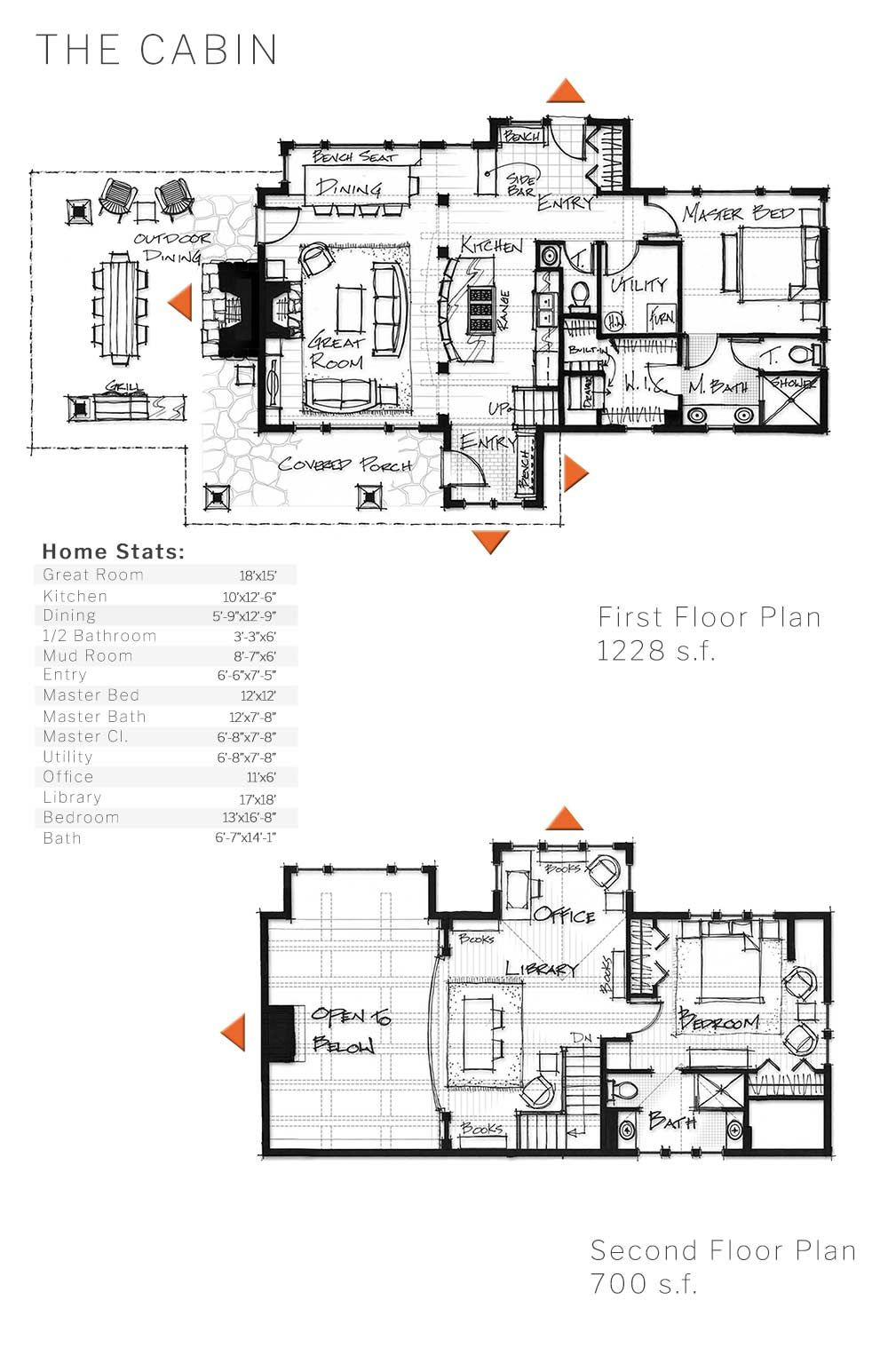 Layout and dimensions of our cabin timber home design | Cabin ...