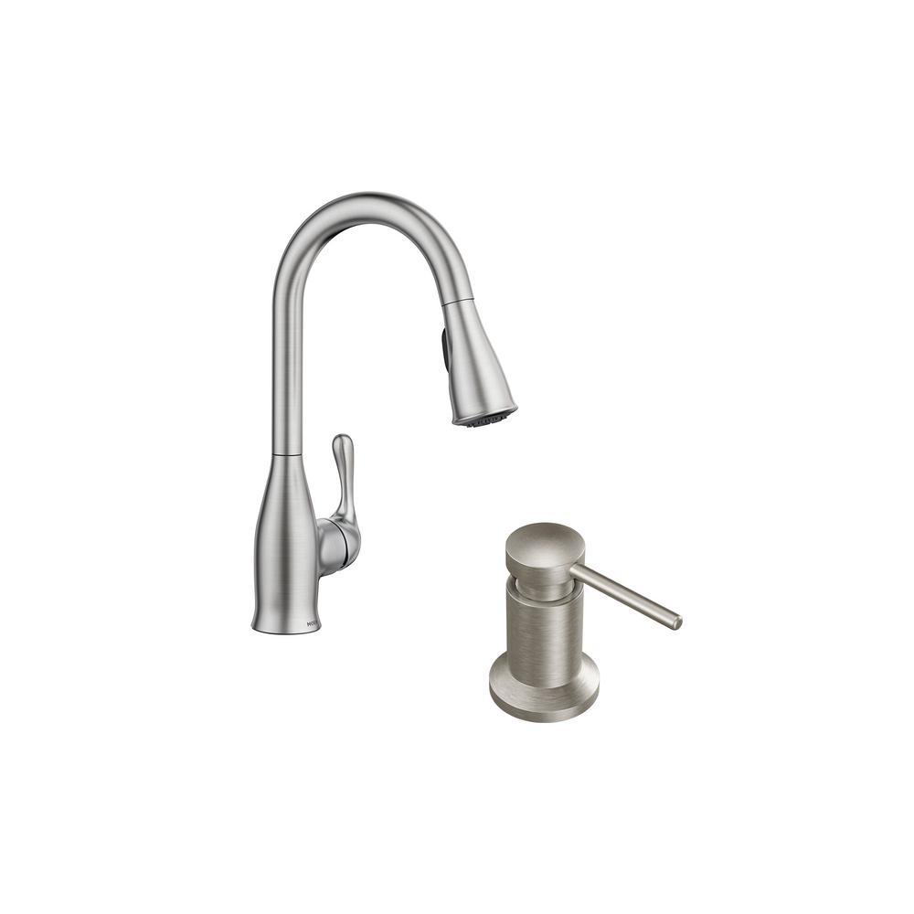 handle pull down sprayer kitchen faucet