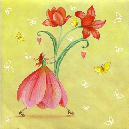 Ilustradora alemã de livros infantis, desenho com lápis de cor, figuras esguias e o par azul/rosa sempre presente. Mora em Hamburg,Alemanha...