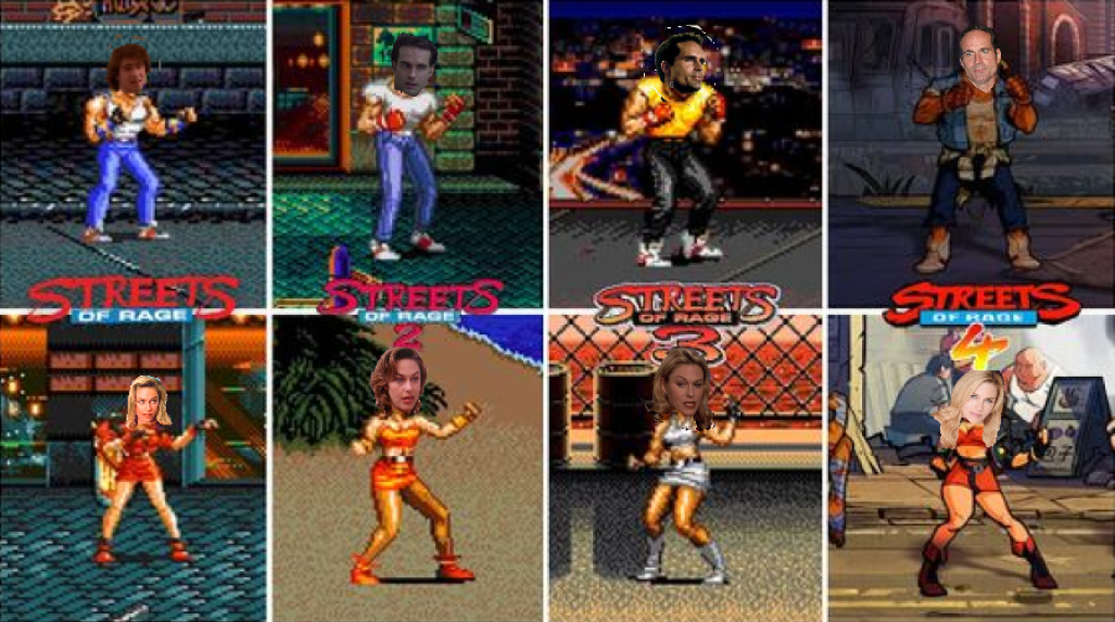 12th Made Wallpaper Of All The Streets Of Rage Games Of Jason Patric As Axel Stone And Shawn Weatherly As Blaze Fielding Street Fighter 2 Game Rage Game Rage