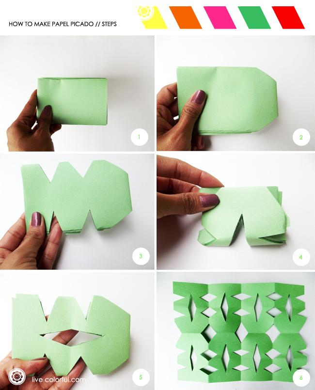 Como hacer papel picado facilmente como hacer papel - Como se hace manualidades ...