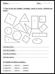 exo formes geometrie (avec images) | Exercice géométrie ...