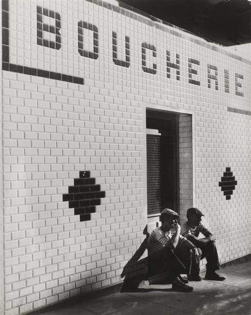 Boucherie, vers 1935 Schall Roger (1904-1995)
