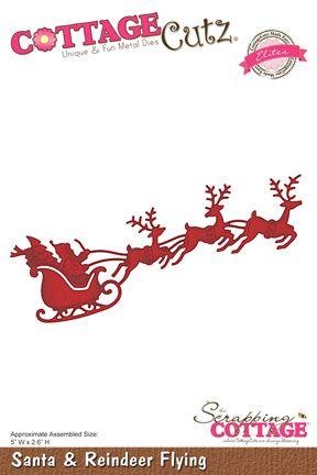 CottageCutz Santa & Reindeer Flying (Elites)