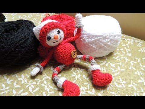 Tutorial De Amigurumis Navideños : Amigurumi muÑeco de nieve navideÑo crochet parte youtube