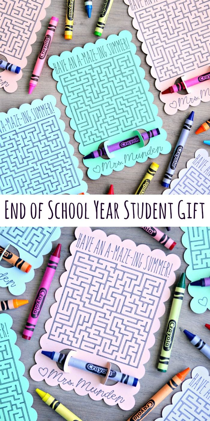Easy End of School Year Student Gifts the entire class will enjoy.