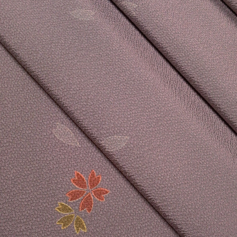 Lavender Chirimen Crepe Silk Kimono Fabric With Sakura By Etsy Kimono Fabric Silk Kimono Fabric