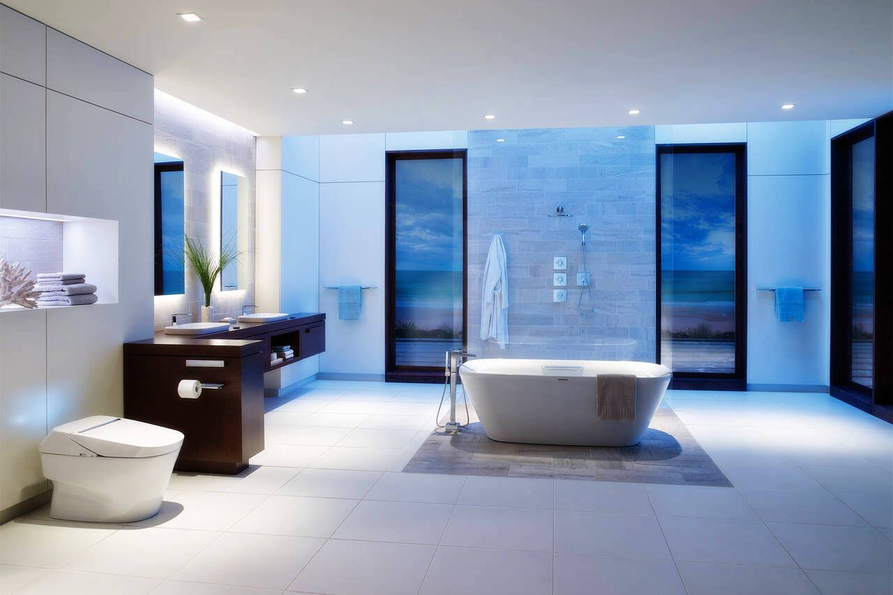 High Tech Bathroom Architecture Bathroom Decor Home