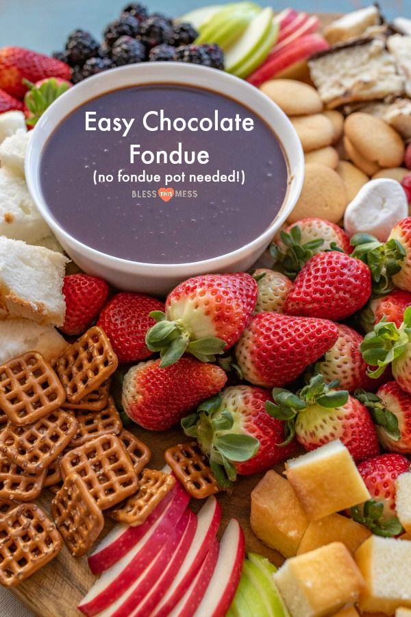 Homemade Chocolate Fondue Recipe | Easy Chocolate Dessert! #chocolatefonduerecipes