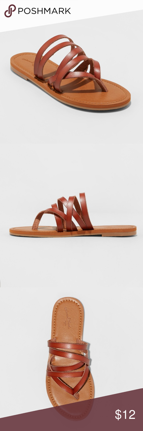 17022bbd7251 NWT Maritza Multi Strap Toe Slide Sandal- Cognac NWT Maritza Multi Strap  Toe Slide Sandal- Cognac Universal Thread Shoes Sandals