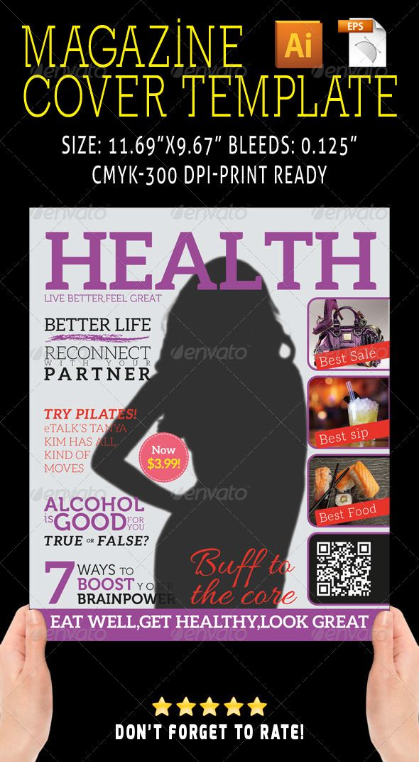 Magazine Cover 05 | Magazine covers, Template and Magazines