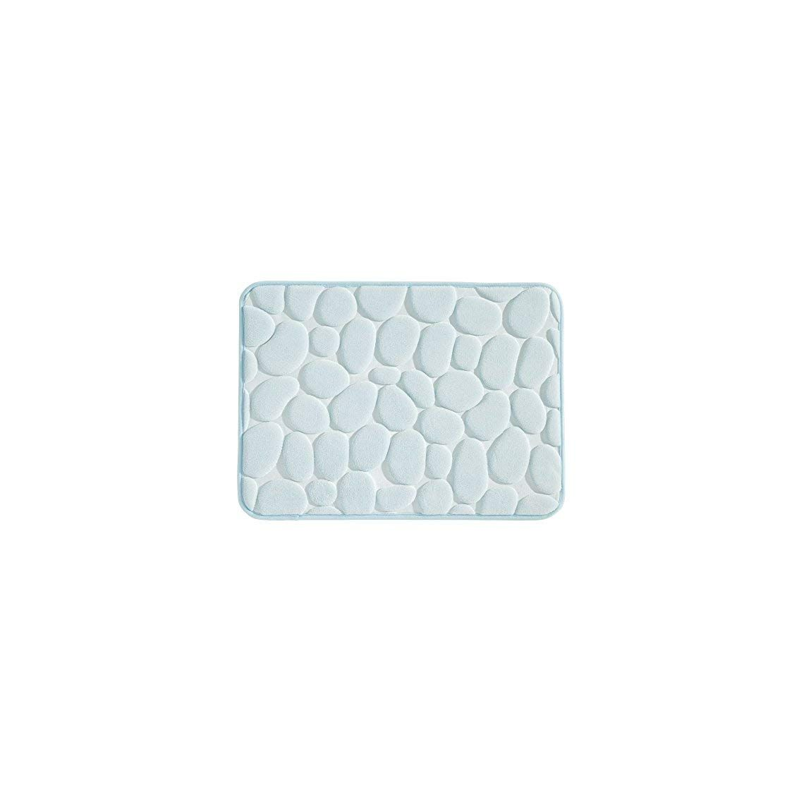 Mdesign Small Pebble Accent Rug Memory Foam Non Slip Bath Mat For