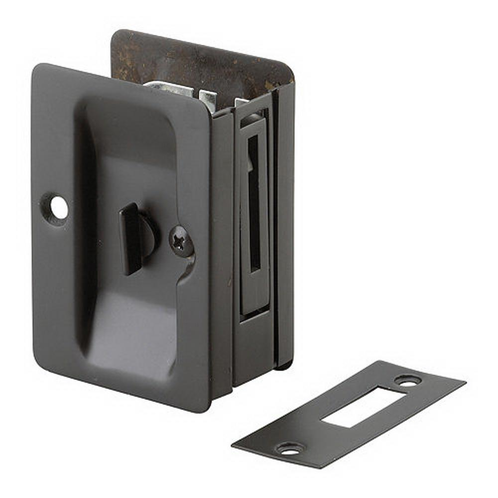 Onward 3 7 32 In Black Pocket Door Pull With Privacy Lock 1701fbpsbc The Home Depot Pocket Door Pulls Pocket Door Hardware Pocket Doors