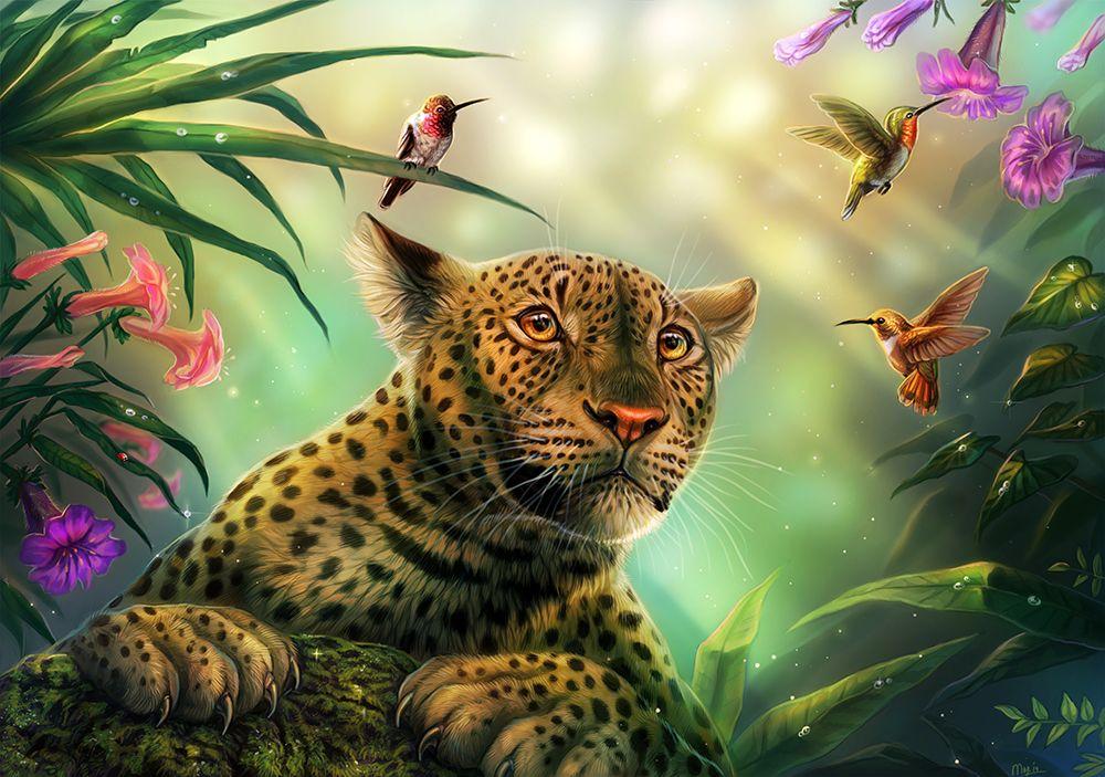 рисунки животных обои острове теплый